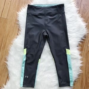 Under Armour gray/yellow/blue exercise leggings S